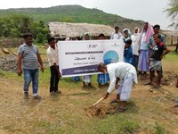 Community Centre work starts at Godda, Jharkhand