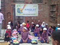 School Kit Distribution at Al Huda Public School, Badgawan, Chandauli, UP East