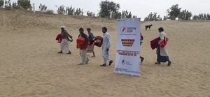 Under Winter Relief Project 20205 blankets distributed across India