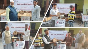 15 Thela/Carts distributed to the needy families in Phulpur, Prayagraj